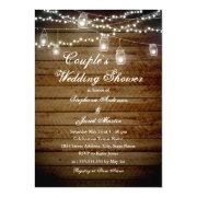 String Lights Rustic Couples Wedding Shower