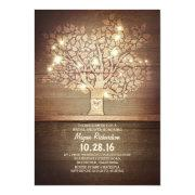 String Lights & Rustic Tree Bridal Shower