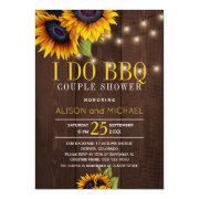 String Lights Sunflowers I Do Bbq Couple Shower Invitation
