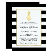 Striped Golden Pineapple Tropical Bridal Shower