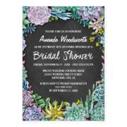 Succulent And Chalkboard Bridal Shower