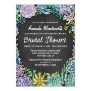 Succulent And Chalkboard Bridal Shower