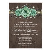 Succulent Bridal's Breath Bridal Shower