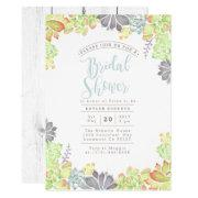 Succulent Bliss Watercolor | Bridal Shower Invite