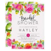 Succulent Botanical Bridal Shower Invite