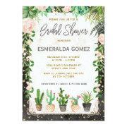 Succulent Bridal Shower Invite Fiesta Cactus Party
