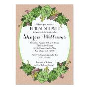 Succulent Bridal Wedding Shower