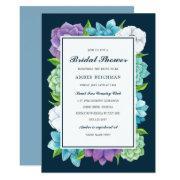 Succulent Florals Bridal Shower  | Navy