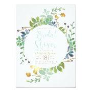 Succulent Garden Circle | Watercolor Bridal Shower