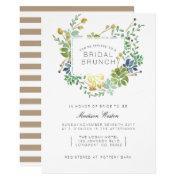 Succulent Garden | Floral Watercolor Bridal Brunch