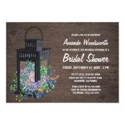 Succulents And Lantern Bridal Shower