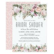 Summer Rose Garden Floral Bridal Shower Invitations