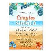 Summer Tropical Beach Couples Wedding Shower