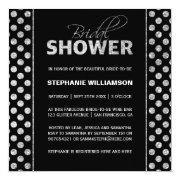 Sumptuous Silver On Black Bridal Shower