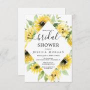 Sunflower Garden Bridal Shower Invitation Invitations
