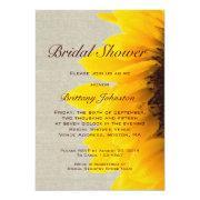 Sunflower Linen Rustic Bridal Shower