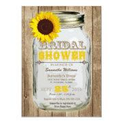 Sunflower Mason Jar Rustic Bridal Shower