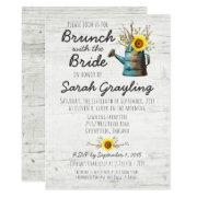 Sunflower & Rustic Wood Bridal Brunch