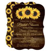 Sunflowers Bridal Shower  Rustic Wood