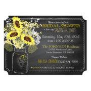 Sunflowers Mason Jar Chalkboard Bridal Shower