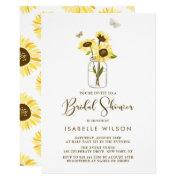 Sunflower bridal shower invitations funbridalshowerinvitations sunflowers on mason jar summer bridal shower filmwisefo