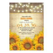 Sunflowers Rustic Bridal Shower