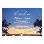 Sunset String Lights Palm Beach Bridal Shower