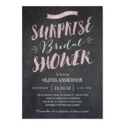 Surprise Bridal Shower  - Chalked