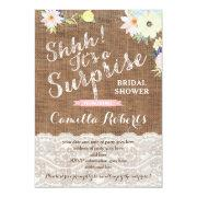 Surprise Bridal Shower Or Party Invitations