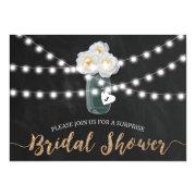 Surprise Bridal Shower Rustic Mason Jar Invitation