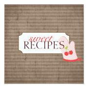 Sweet Recipe Trading Card Collection Personalized Announcement