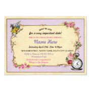 Tea Party Bachelorette Rabbit Purple Invite