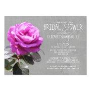 Tea Rose Bridal Shower Invitations Custom Invitations