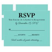 Teal Blue Traditional Wedding Suite Rsvp