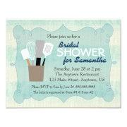 Teal & Cream Burlap Bridal Shower