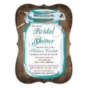 Teal Mason Jar Rustic Bridal Shower