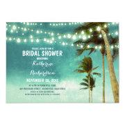 Teal Ombre Beach Bridal Shower String Lights