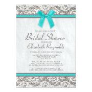 Teal Silver Country Lace Bridal Shower