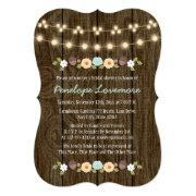 Teal String Of Lights Fall Rustic Bridal Shower