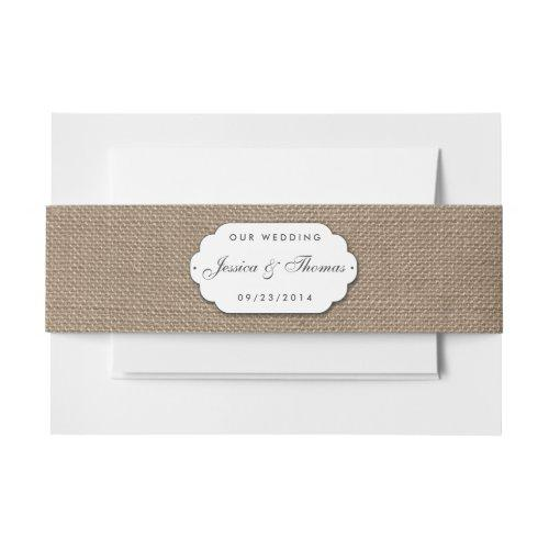 The Burlap & Lace Wedding Collection Invitation Belly Band
