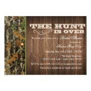 The Hunt Is Over Bridal Shower Invitations