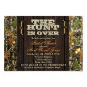 The Hunt Is Over Camo Bridal Shower