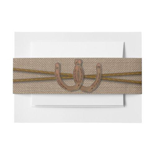 The Rustic Horseshoe Wedding Collection Invitation Belly Band