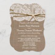 The Rustic Starfish Beach Wedding Collection Invitation