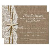 The Rustic Starfish Wedding Collection Rsvp