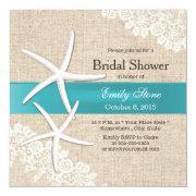 Tiffany Blue Starfish Lace & Burlap Bridal Shower