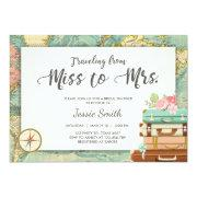 Travel Bridal Shower Invitations Miss To Mrs