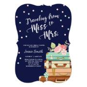Travel Bridal Shower  Miss To Mrs Navy
