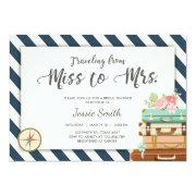 Travel Bridal Shower  Miss To Mrs Navy