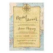Travel Map Bridal Shower
